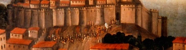 Vista guiada al castillo en Denia