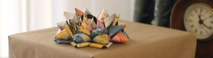Moños de papel para decorar regalos