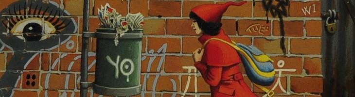 La niña de rojo