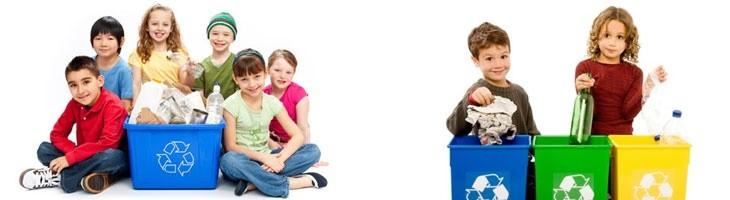 Enseñarles a reciclar