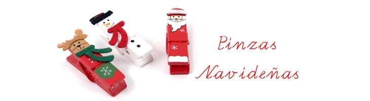 NAVIDAD-Pinzas navideñas