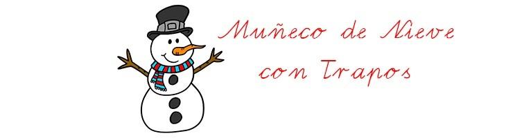 NAVIDAD-Muñeco de nieve con trapos