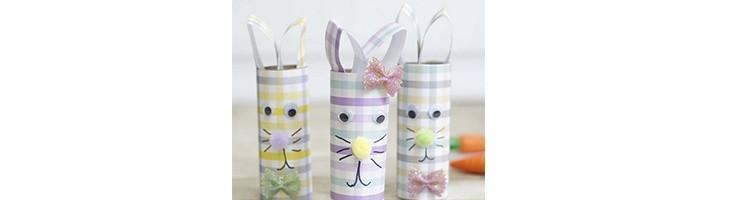 PASCUA - Conejos de rollos de papel