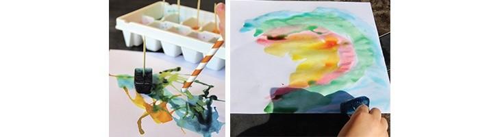 Pintar con cubitos