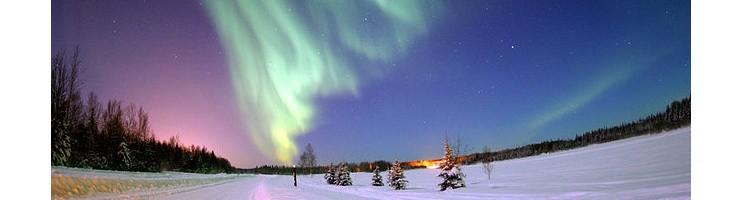 Llamas de color en el cielo